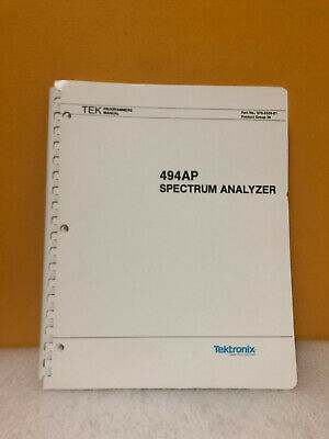 Tektronix 070-5559-01 494ap Spectrum Analyzer Programmers Manual