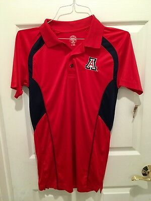 - Mens Arizona Wildcats polo Shirt similar fabric to Drifit size small new