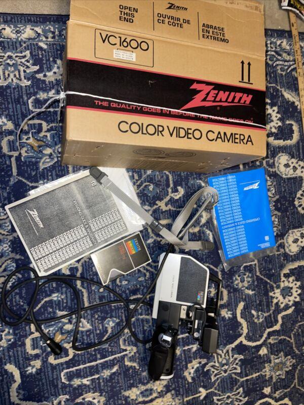Zenith Beta Betamax Portable VC1600 Color Video Camera Works!!!