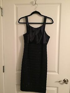 Size 12 Navy Blue Formal Dress from Laura with matching clutch St. John's Newfoundland image 1