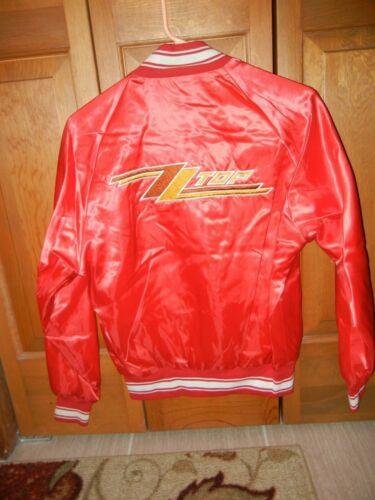 Vintage ZZTOP International Fan Club Silky Bomber Jacket  Size SM