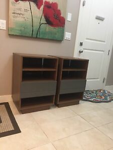 Side tables/media storage cabinets