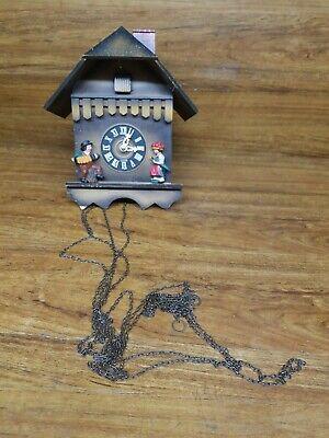 Vintage german cuckoo clock for parts or repair