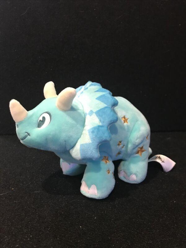 Disney Animal Kingdom Dino Dinoland Triceratops Small Plush In Hand