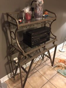 Glass dinette and bakers rack