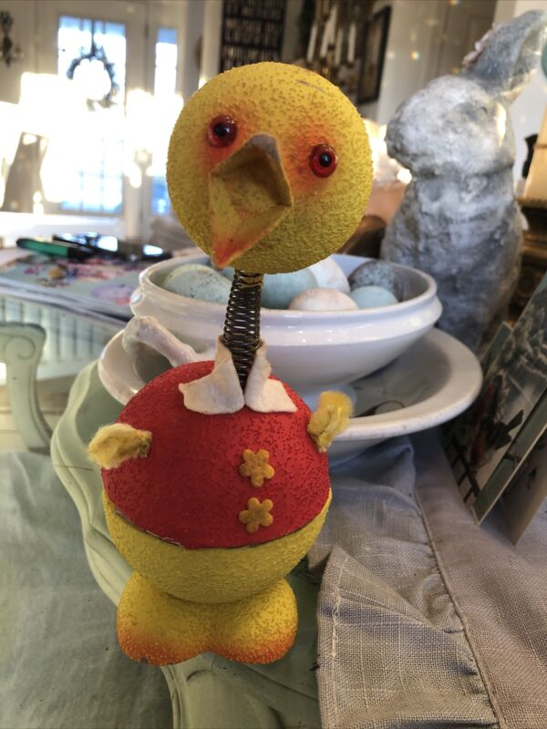 VINTAGE WESTERN GERMANY BOY DUCK CANDY CONTAINER