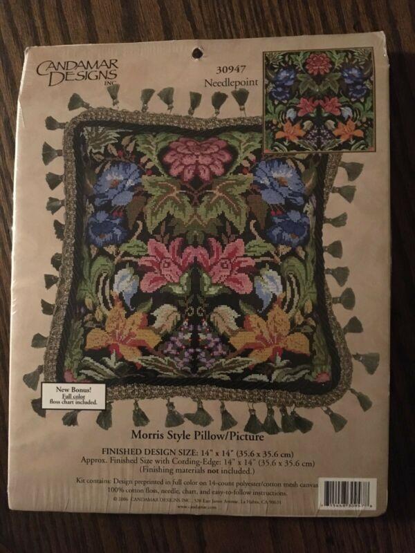 Candamar Needlepoint pillow kit - Morris Style Pillow