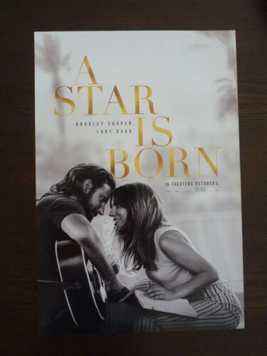 "A Star Is Born Promo Movie Poster Lady Gaga Bradley Cooper 11.5"" x 17"""