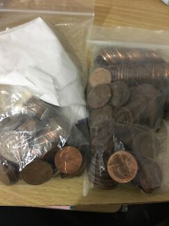 Australian Old 1cent And 2cent Coins
