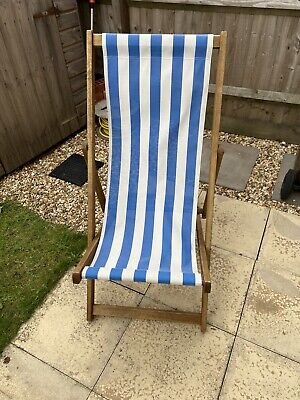 Traditional Southsea Wooden Deck Chairs x2