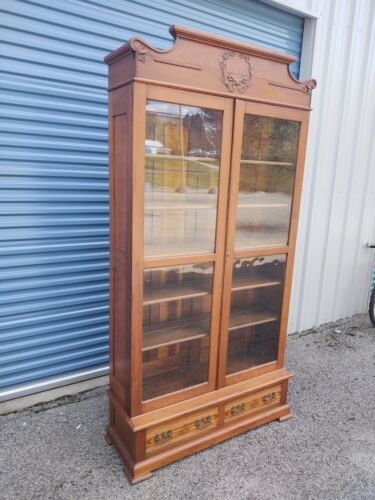 Rare Antique Victorian Knockdown Bookcase, Pickup Only