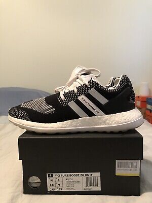 Adidas Y-3 Pure Boost ZG Knit 9.5 black white off ultra nmd superstar stan smith
