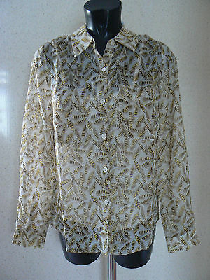 Holly Willoughby Printed  Blouse    Shirt Top Size 10 New