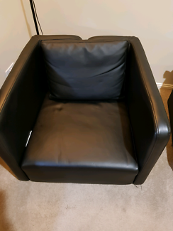 Black single armchair