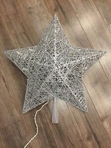 Silver light up star/tree topper