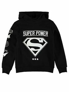 NAME-IT-Ninos-Chicos-Jersey-CAPUCHA-Sudadera-SUPERHERO-CARTER-Capucha-Superman