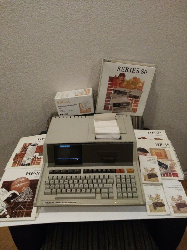Hewlett Packard HP 85 Vintage Word Processor Computer Terminal w/Monitor