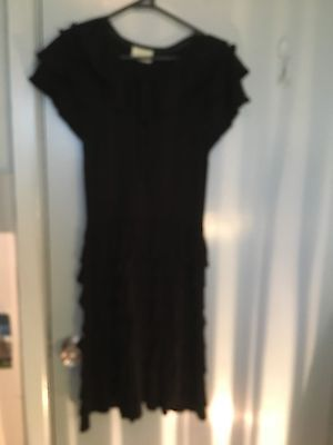 Review black cotton dress in a Spanish style in size 10 (Size In Spanish)