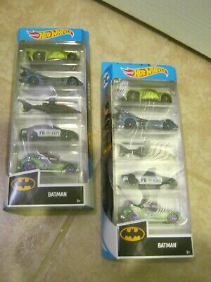 2019 Hot Wheels Batman D.C. City 5 Pack Bassline--Batmobile--Batcopter 1/64