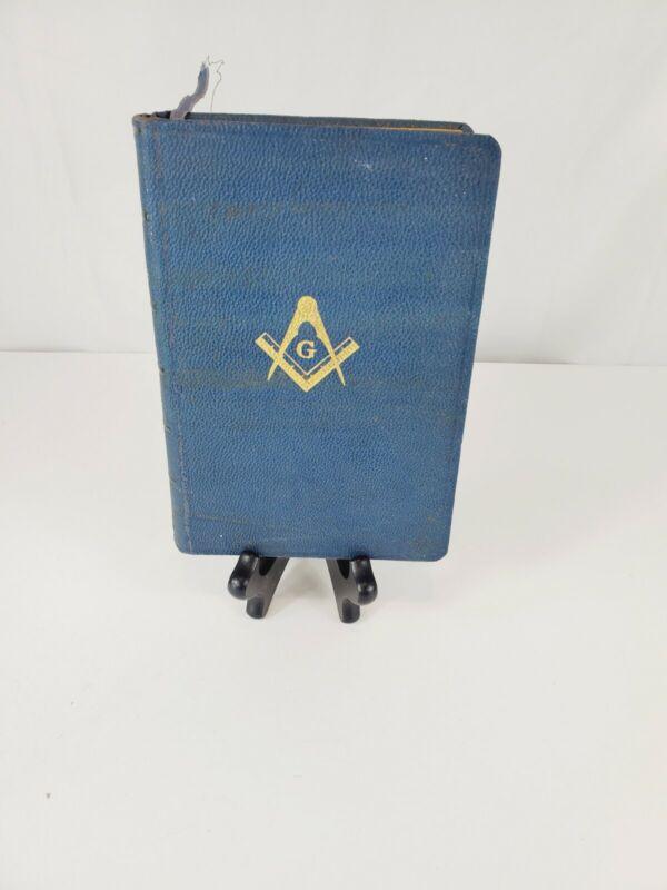 Vintage 1924 Masonic Edition Holy Bible Temple King James Version Holman Signed