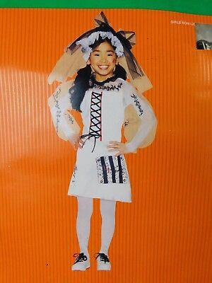 Punk Zombie Monster Bride Girl's Halloween Dress-Up Costume 6-8 Medium #7472 (Girls Zombie Bride Costume)
