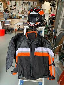Motorcycle helmets matching Jackets Mens (L) & ladies (XL) Fingal Head Tweed Heads Area Preview