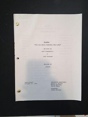 "FRIENDS TV Script S1/Ep 9 ""Underdog Gets Away"" Aniston,Cox, Kudrow, LeBlanc"
