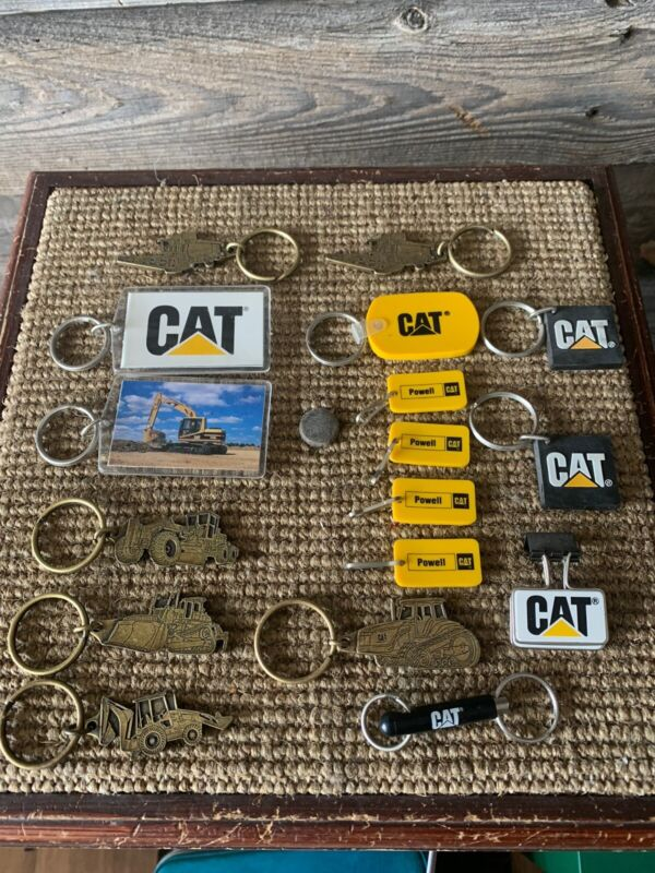 Vintage Cat Powell Equipment Caterpillar Key Chain Lot