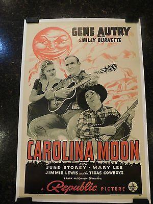 "CAROLINA MOON Original 1940 Movie Poster, 27"" x 41"", C8.5 Very Fine to Near Mint"