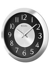 BULOVA LARGE MUSIC STREAMER STEREO BLUETOOTH ENABLED WALL CLOCK C4837
