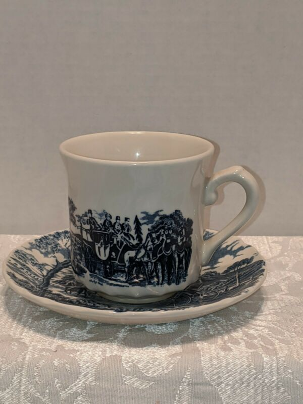 Vintage Royal Wessex Blue Tea Cup And Saucer