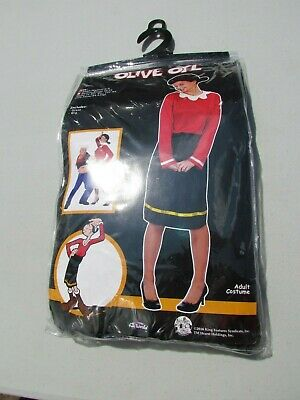 OLIVE OYL COSTUME HALLOWEEN ADULT POPEYE SMALL MED FUN WORLD