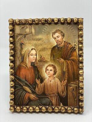 """Sagrada Familia"" - Holy Family Handcrafted Portrait. Religious Art Mexico"