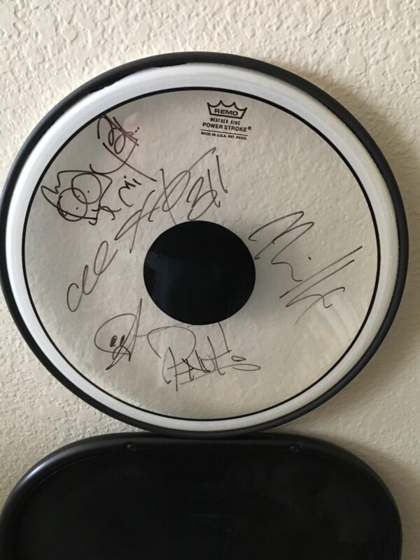 311Signed Autographed Drumhead Entire Band x5