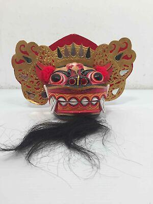Vintage Balinese Keket Barong Mask Hand Carved Bali