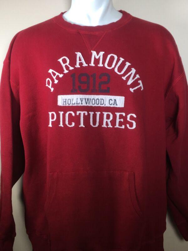 Paramount Pictures 1912 Hollywood CA Movie Film Studio Red Sweatshirt Men