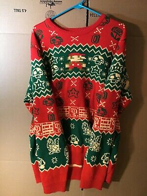 Super Mario Bros Christmas Sweater Size XXL Great for a Collector Ex Condition