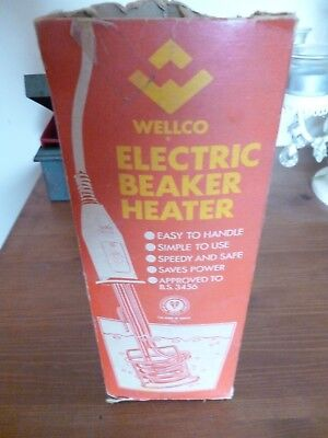 RETRO ELECTRIC BEAKER HEATER by WELLCO 1970s-80s