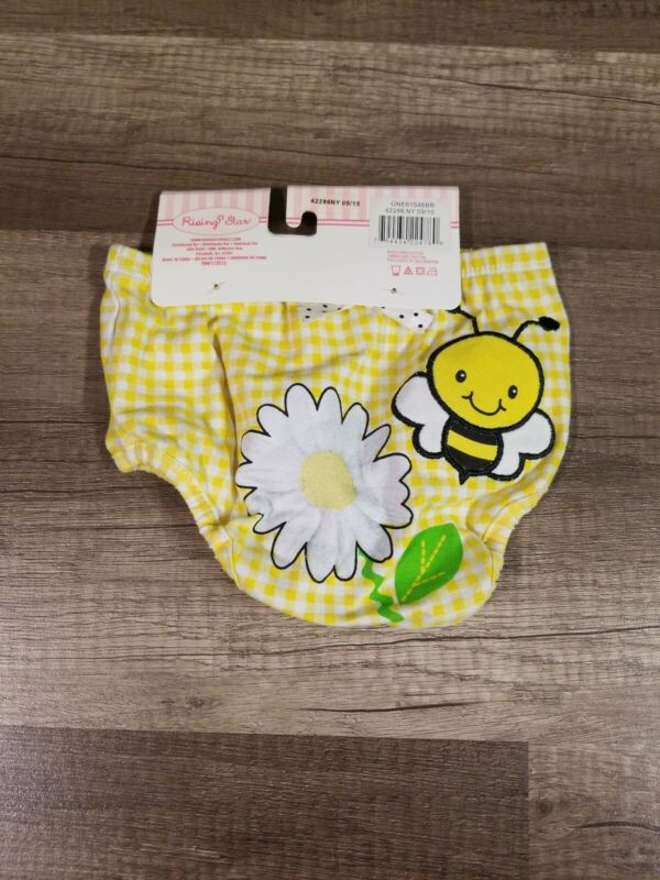 Rising Star Baby Diaper Cover Yellow Bee Design 0-12M NEW