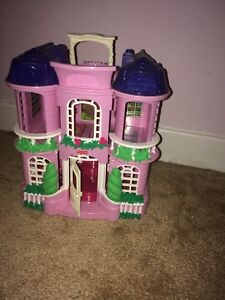 little people pink play house