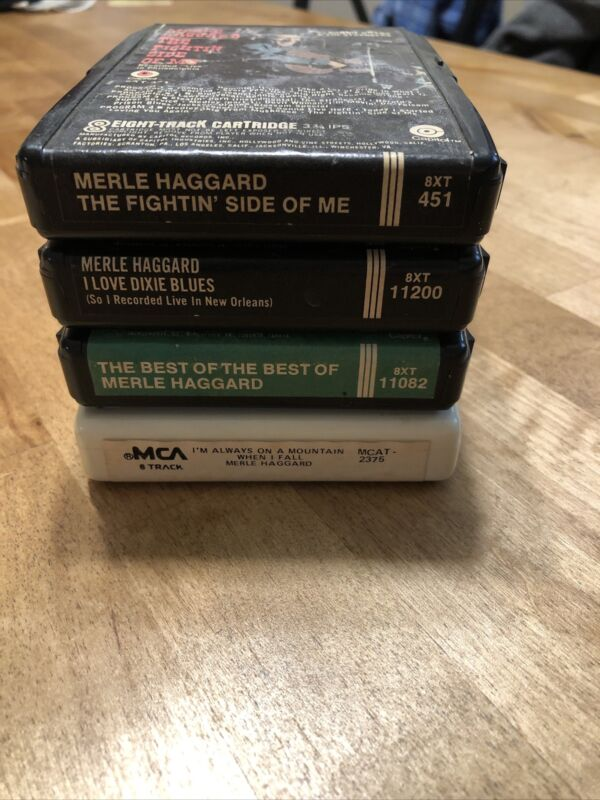 4 Pack Merle Haggard 8 Track Tapes