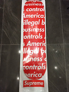 Supreme Illegal Business Controls America Skateboard