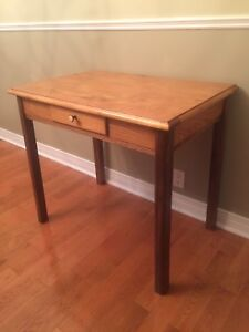 Antique Desk / Table - Pine - with Drawer