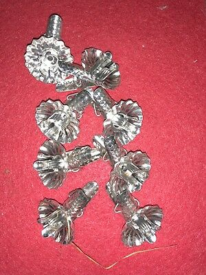 Small Silver Acorn Christmas Tree Clips Set Of 8