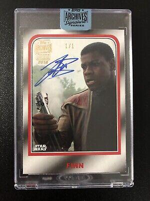 2018 Topps Star Wars Archives Signature Series John Boyega Finn Auto 1/1