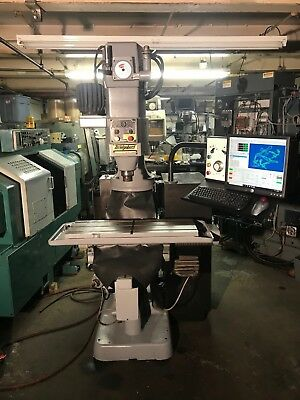 Bridgeport Cnc Full 3 Axis Machine X Y Z Running Mach 4 Software Installed.