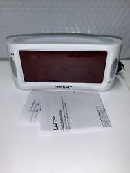 Travelwey Home LED Digital Alarm Clock Outlet Powered No Frills Simple Large
