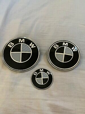 BMW CARBON FIBER HOOD , TRUNK AND STEERING WHEEL EMBLEM For E series x1,3,5