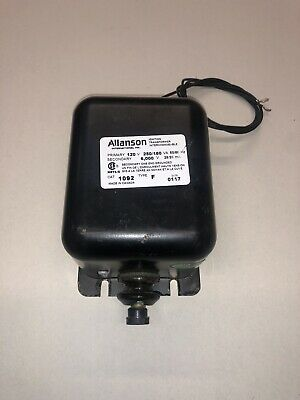 Allanson Ignition Transformer 1092 Type F Primary 120v 60 Hz Sec 6000 Volts