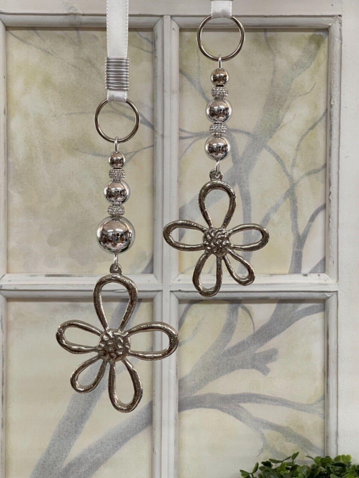 🌹 Fensterdeko, Hänger, Metall Blumen,11cm, Fensterdekoration, Fenster Hänger